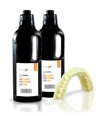 Bio dental resina 3D 1 KG traslucido amarillo Precision 1.5