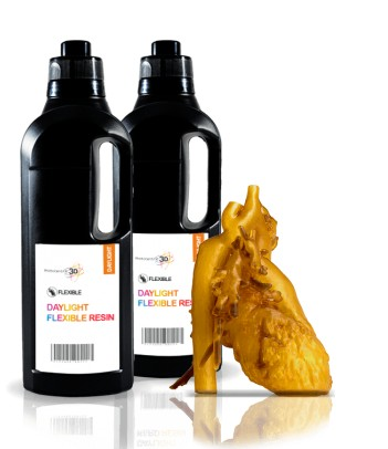 Flexible resina 3D 1 KG Ambar HI-RES 2